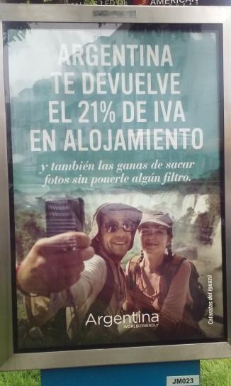 La Argentina está realizando una campaña de promoción importante para atraer turistas peruanos. Entre otros atractivos, ofrece la devolución del 21% de IVA.